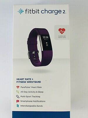 $ CDN102.85 • Buy Fitbit Charge 2 Heart Rate Fitness Sleep Tracker Plum, Large
