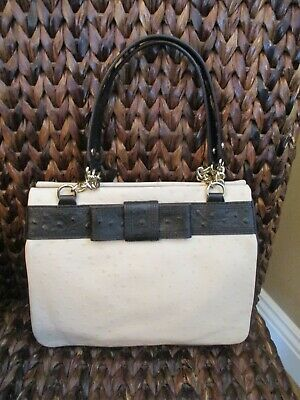 $ CDN109.17 • Buy Authentic Kate Spade Valencia Road Darcy Leather Purse Beige/Black W/Bow Detail