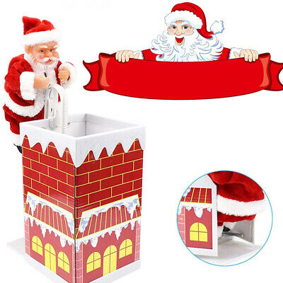 £11.21 • Buy Santa Claus Climbing Chimney Electric Toy Doll Gifts Christmas Decor Ornaments