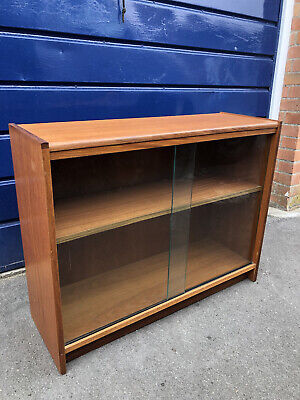 £70 • Buy Teak Glass Fronted Bookcase Display Cabinet - COLLECT ONLY Wells In Somerset