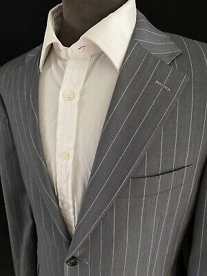 £49.99 • Buy Canali Suit, Size 40S 34W Pale Grey White Pinstripe RRP £1,356