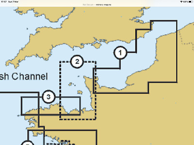 £20 • Buy C Map  1998. Channel Islands. (area No 2)