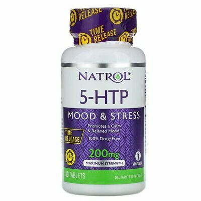 AU35.04 • Buy Natrol, 5-HTP, Time Release, Maximum Strength, 200 Mg, 30 Tablets