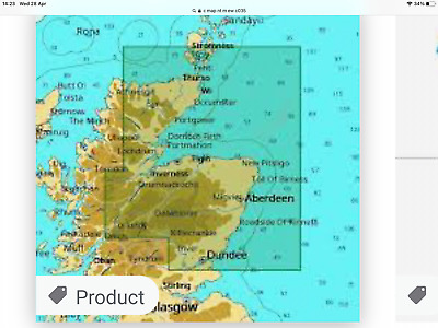 £70 • Buy C Map Nt+ 2011 Northeast Scotland ,dundee To Orkney, Caledonian Canal