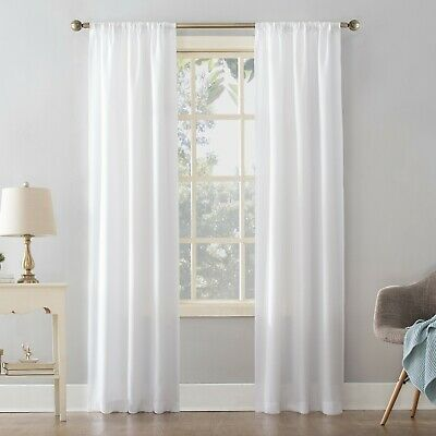 $8.99 • Buy Mainstays Textured Solid Rod Pocket Curtain Panel, 38  X 63 , White