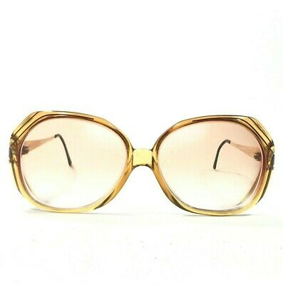 £21.23 • Buy Christian Dior 2256 20 Sunglasses Glasses Frames Oversize Round Clear Brown 125