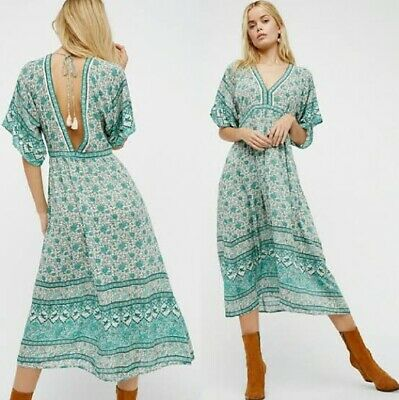 AU399 • Buy Spell And The Gypsy Collective Designs Kombi Folk Dress Sage Size L Maxi
