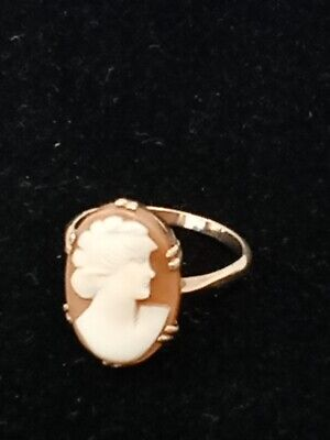 £29.99 • Buy 9ct Gold Cameo Ring Oval Shape Size S Size 7.5  C2