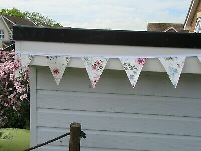 £6 • Buy Pvc  Pastel Floral  Garden/indoors Bunting 10ft Approx 3 Mtrs