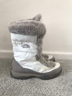£36.99 • Buy The North Face Snow Boots Size 4 White Fur Lined Walking Insulated Calf Boots