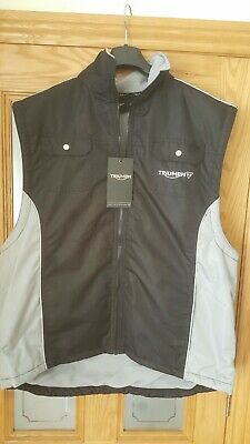 £39.95 • Buy Triumph Works Clothing - Men's , Fleece Lined GILET - New, Superb & Very Rare.