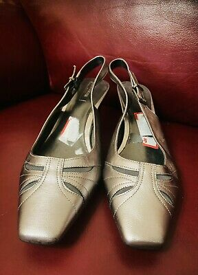 £3.99 • Buy Footglove Wider Fit Ladies Shoes, Pewter Size 8 Wider Fit New With A Flaw At Toe