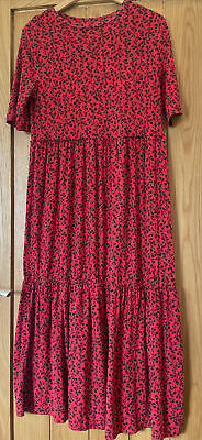 £2.20 • Buy F&F Red Tiered Maxi Dress Size 12