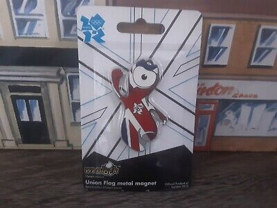 £2 • Buy Wenlock Union Flag Olympic Mascot Metal Magnet Official Product Of London 2012