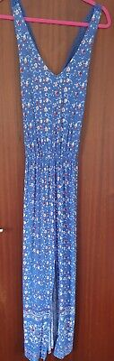 £1.30 • Buy George Size 12 Blue Cross Back Maxi Dress