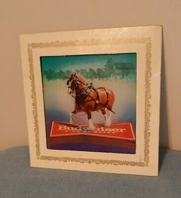 $ CDN18.66 • Buy Vintage Carnival Prize Mirror Budweiser Clydesdale Horse Glass Picture  8''x8''
