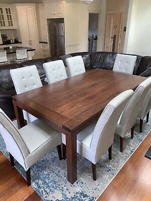 AU600 • Buy Adriatic Furniture - 8 Seater Dining Table And Chairs Exc Condition RRP $2200