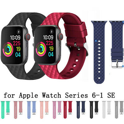 $ CDN5.55 • Buy Strap Band Bracelet Silicone Replacement For Apple Watch Series 6 5 4 3 2 1 SE