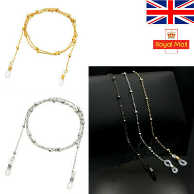 £1.99 • Buy Glasses Neck Chain Cord Lanyard Gold Silver Gun Retainer Spectacles Sunglasses