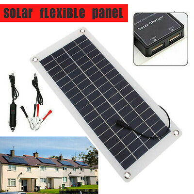 £11.95 • Buy 20W Solar Panel 12V Trickle Charge Battery Charger Maintainer Marine RV Car UK