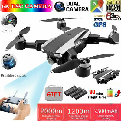 AU169.89 • Buy 5G 4K 6K Drones With HD Dual Camera With GPS WiFi Foldable Selfie RC Quadcopter