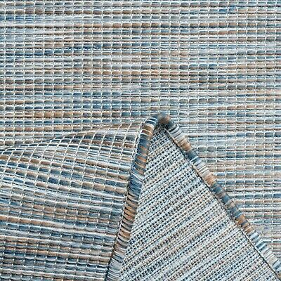 £14.95 • Buy Blue Outdoor Garden Patio Area Rugs Decking Staycation Hot Tub Area Mats Budget