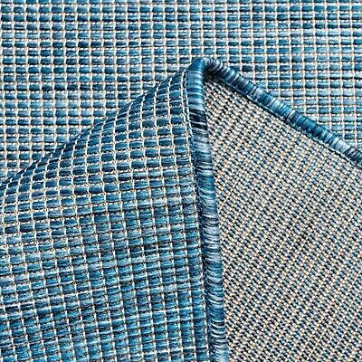 £19.95 • Buy Extra Large Outdoor Rugs Navy Blue Plain Modern Washable Garden Patio Mats Cheap