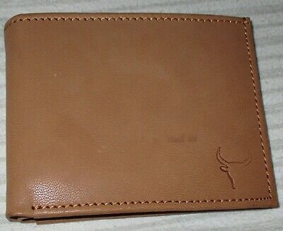 AU5.99 • Buy MENS NEW Leather Wallet Tan Bifold