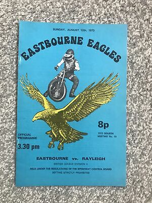 £1.25 • Buy Eastbourne V Rayleigh Speedway Programme 12/08/73