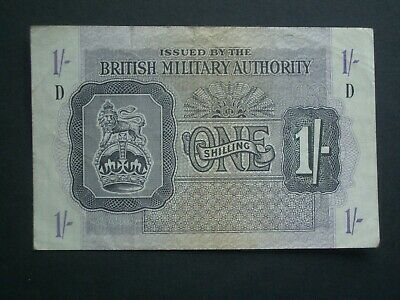 £11.95 • Buy **Nice 'VF'+ **British Military Authority Issue 'D' 1s Banknote******
