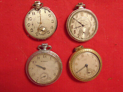 $ CDN12.04 • Buy Lot Of 4 Vintage Hand Wind Pocket Watches - Parts Or Repair Only