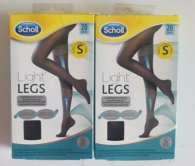 £4 • Buy SCHOLL LIGHT LEGS X 2 Pairs Black Size Small 20 Denier Compression Tights