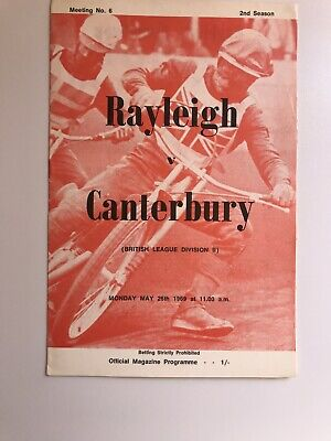 £1.20 • Buy Rayleigh V Canterbury Speedway Programme 26/05/69
