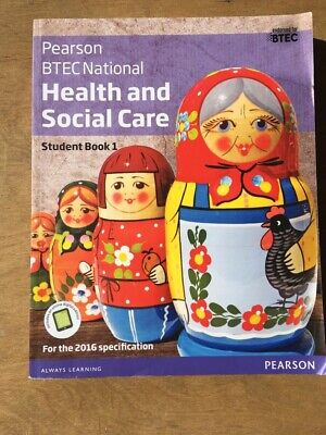 £14.99 • Buy Pearson BTEC National Health And Social Care Student Book 1