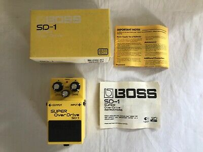 $ CDN88.64 • Buy GOOD CONDITION 2003 Boss SD-1 Super Overdrive Guitar Pedal + BOX + MANUAL