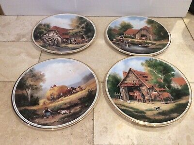 £10 • Buy X4 Edwardian Fine China Village Life Series 27 Cm Collectors Plates