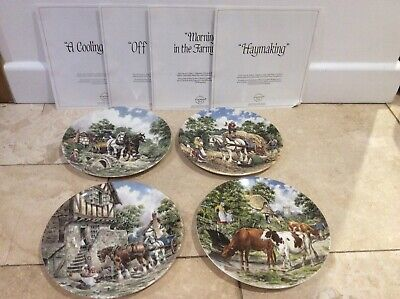 £10 • Buy Wedgwood Collectors Plates ~ Shire Horses & Farm  Theme