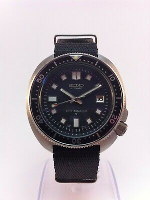 $ CDN419.31 • Buy Seiko (SII) Automatic Diver 6105-8110 Modded Watch  LOCK  Crown NATO