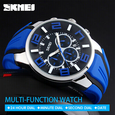 $ CDN17.99 • Buy SKMEI Men Big Dial Fashion Quartz Watch Casual Date Waterproof Stopwatch 9128 5