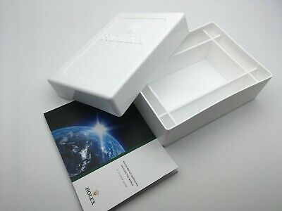 $ CDN25.57 • Buy Genuine Rolex Watch Service Box White Plastic With Service Booklet