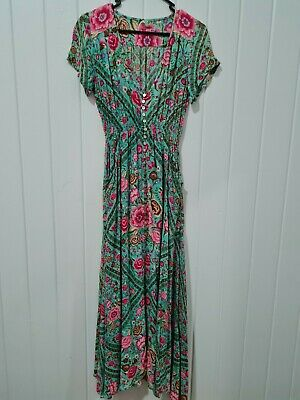 AU450 • Buy Spell Designs Turqouise Babushka Gown Size Small