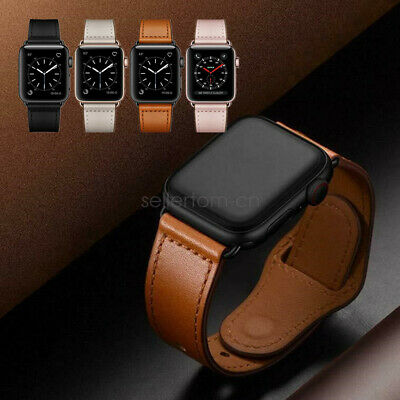 AU9.99 • Buy Genuine Leather Watch Band Strap For Apple Watch SE 6 5 4 3 2 38/42mm 40/44mm