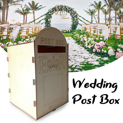 £9.97 • Buy Mr Mrs Wedding Post Box Royal Mail Gifts Cards Letters DIY Party Wood  !! !!