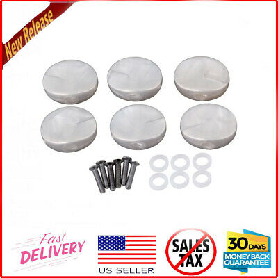 $ CDN15.10 • Buy Chrome White Pearl Guitar Tuners Machine Heads Buttons Knobs Set Of 6