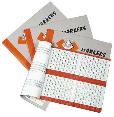 £9.53 • Buy SES-Sterling Self Adhesive Cable Marker Book SM0-9