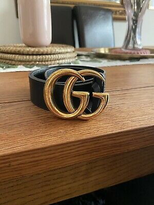 AU309.10 • Buy Womens Genuine Gucci Marmont Leather Belt Size 85 (large GG) Original Price £290