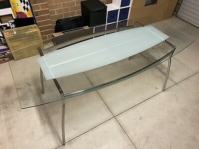 AU45 • Buy IKEA Serri Glass Chrome Dining Table Seats 4-6 Excellent Used Condition Complete