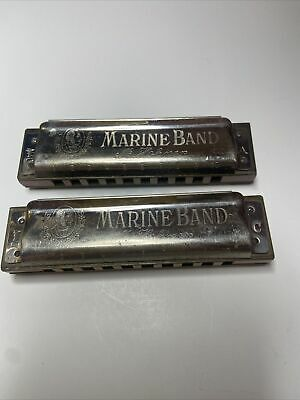 $15 • Buy Vintage M. Hohner Harmonica, Lot Of 2, A & C, A440