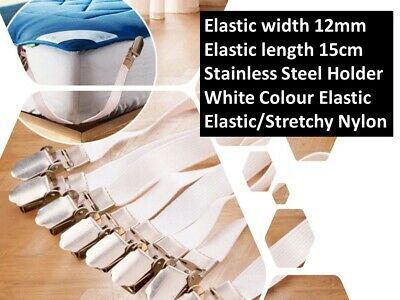 £2.85 • Buy 4x Adjustable Sheet Straps Clips Grippers Mattress Cover Sheet Bed Suspenders