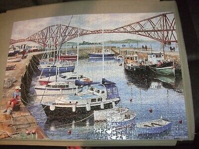 £9.99 • Buy Gibsons Queensferry Harbour- Terry Harrison 1000  Piece Jigsaws